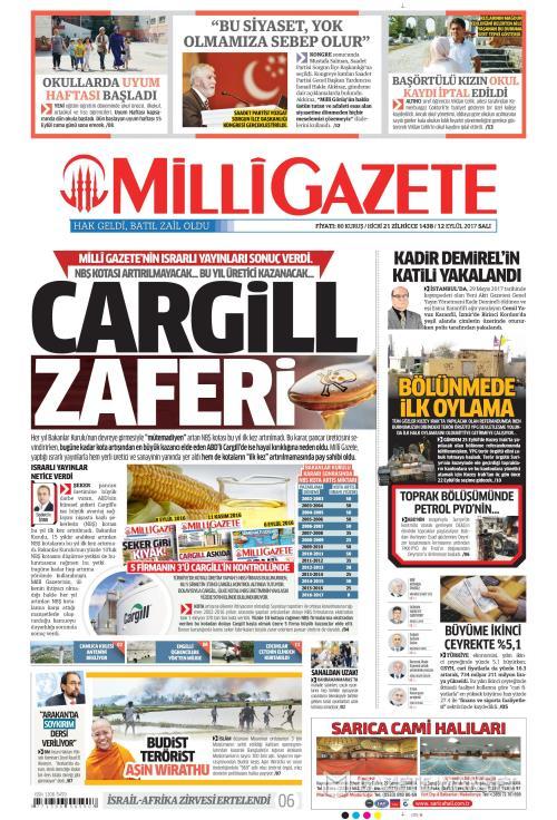 MİLLİ GAZETE - 12 Eylül 2017
