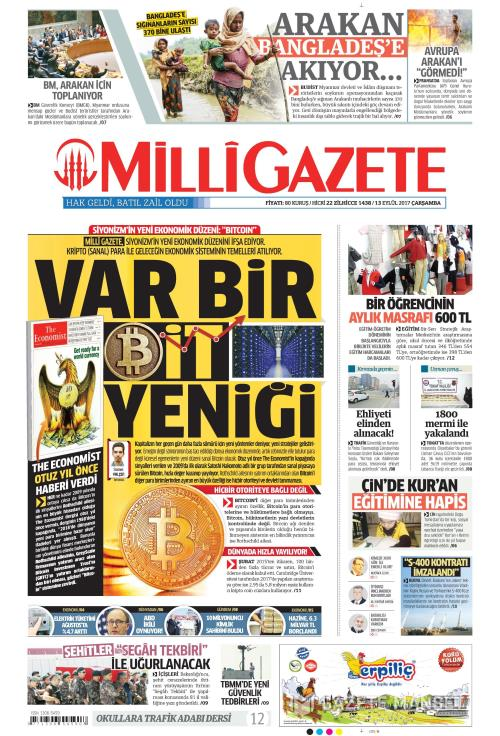 MİLLİ GAZETE - 13 Eylül 2017