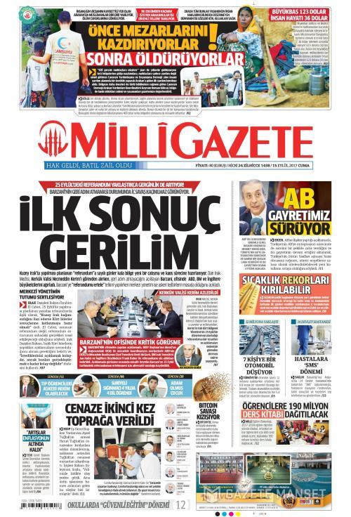 MİLLİ GAZETE - 15 Eylül 2017