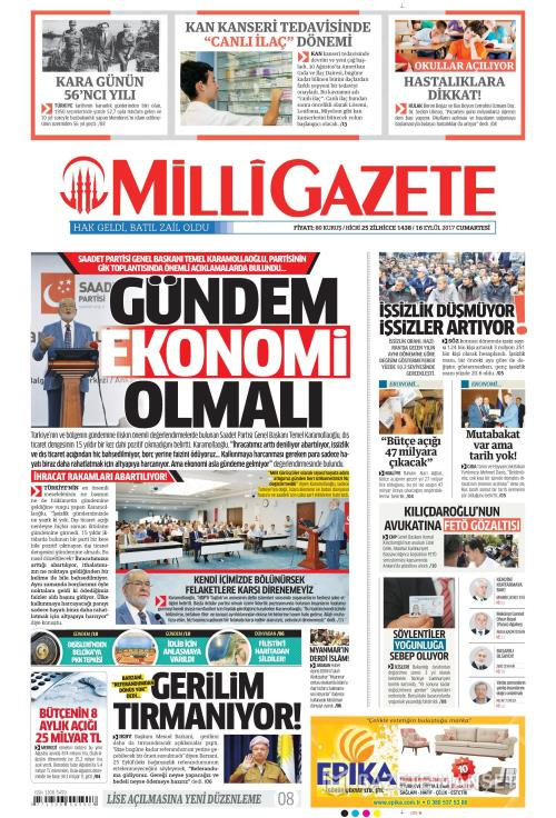 MİLLİ GAZETE - 16 Eylül 2017