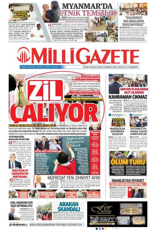 MİLLİ GAZETE - 18 Eylül 2017