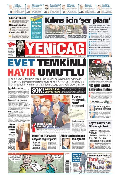 Türkiye'de Yeni Çağ - 11 Ocak 2017