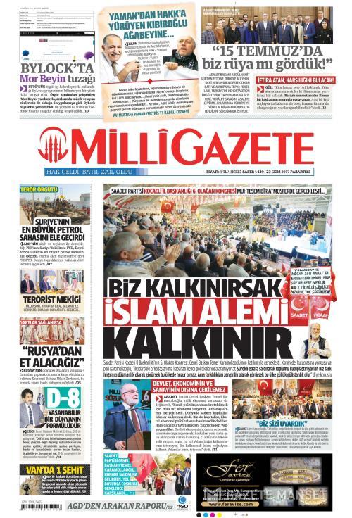 MİLLİ GAZETE - 23 Ekim 2017