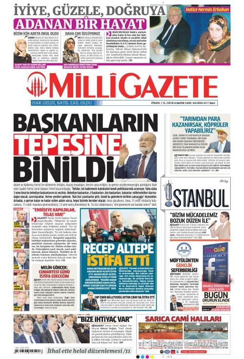 MİLLİ GAZETE - 24 Ekim 2017
