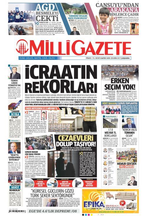 MİLLİ GAZETE - 25 Ekim 2017
