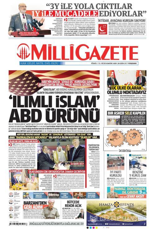 MİLLİ GAZETE - 26 Ekim 2017