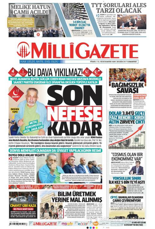 MİLLİ GAZETE - 28 Ekim 2017