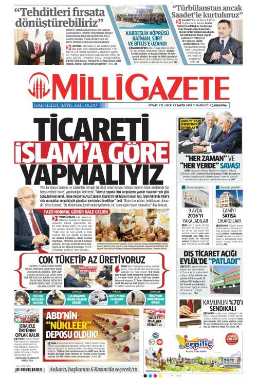 MİLLİ GAZETE - 01 Kasım 2017