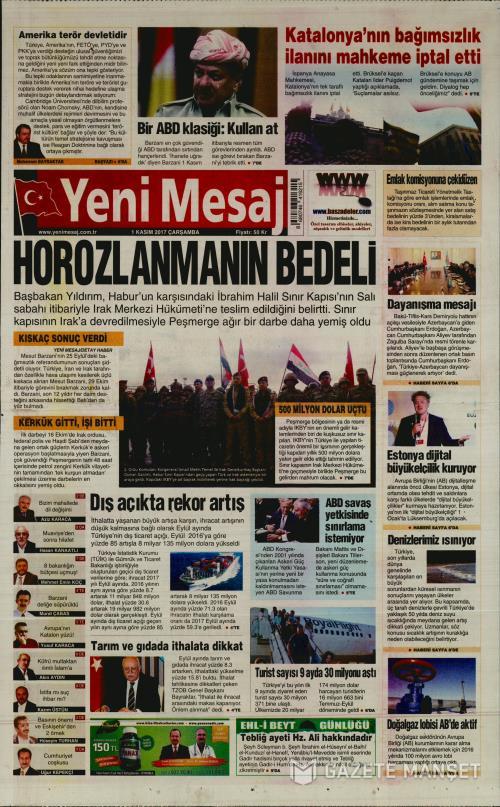 YENİ MESAJ - 01 Kasım 2017