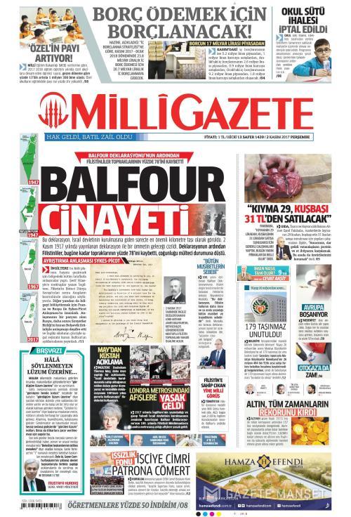 MİLLİ GAZETE - 02 Kasım 2017