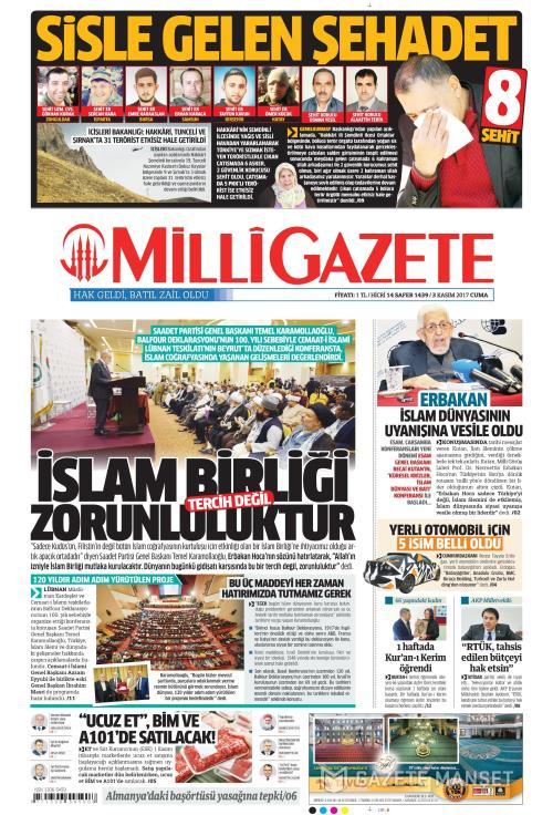 MİLLİ GAZETE - 03 Kasım 2017