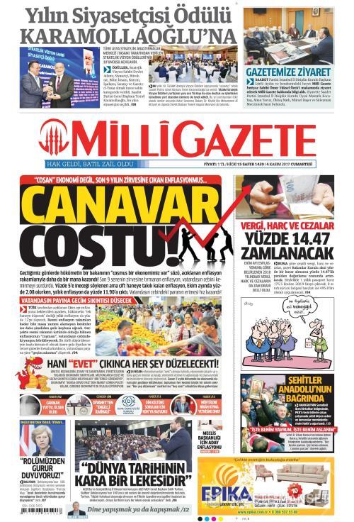 MİLLİ GAZETE - 04 Kasım 2017