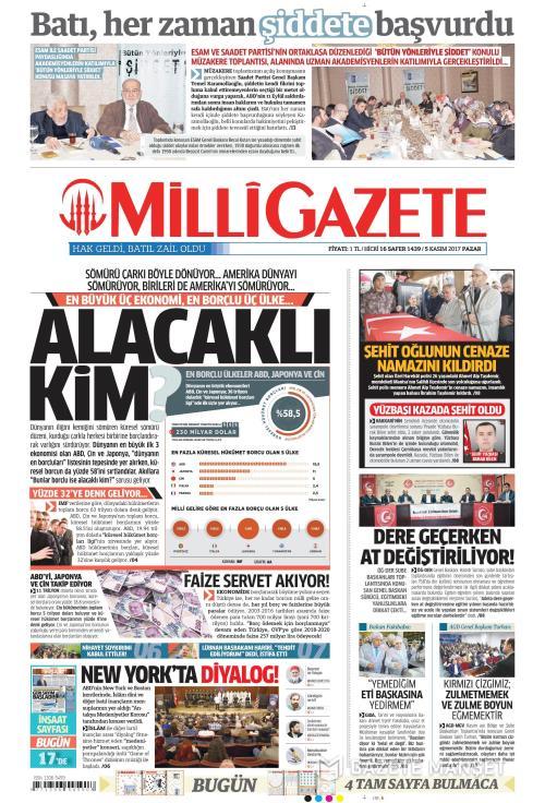 MİLLİ GAZETE - 05 Kasım 2017