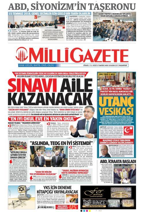 MİLLİ GAZETE - 06 Kasım 2017