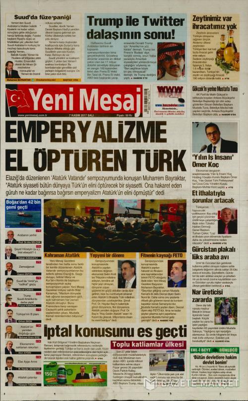 YENİ MESAJ - 07 Kasım 2017