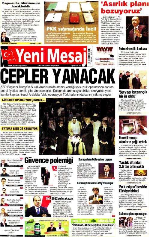 YENİ MESAJ - 08 Kasım 2017