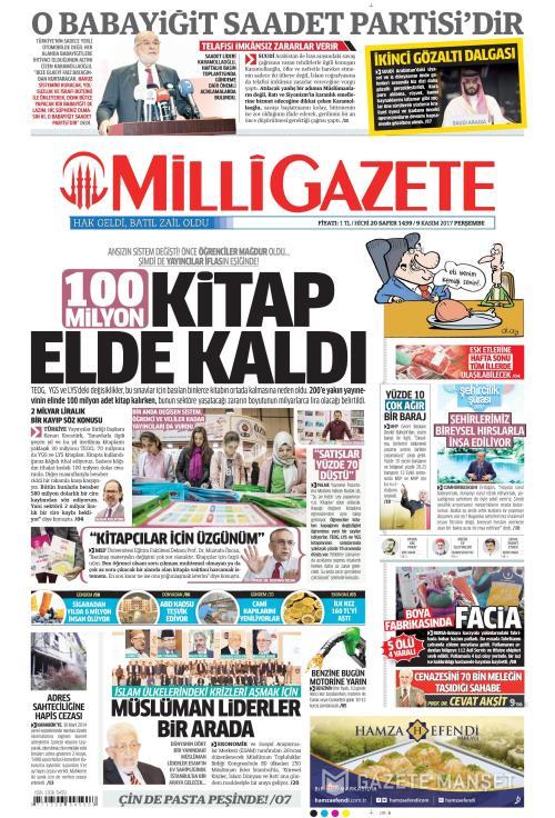 MİLLİ GAZETE - 09 Kasım 2017