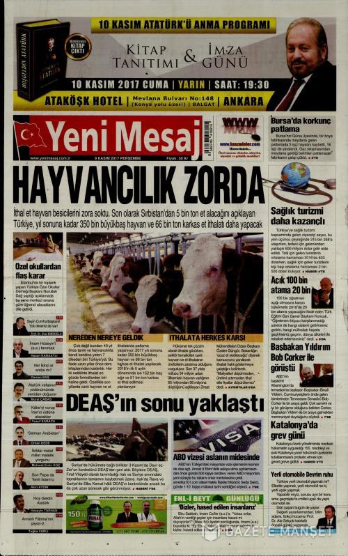 YENİ MESAJ - 09 Kasım 2017