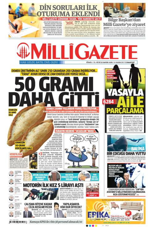 MİLLİ GAZETE - 11 Kasım 2017