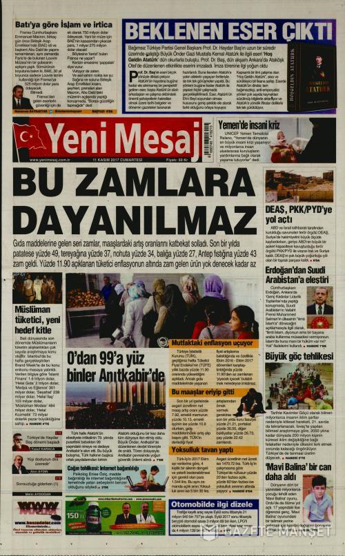YENİ MESAJ - 11 Kasım 2017