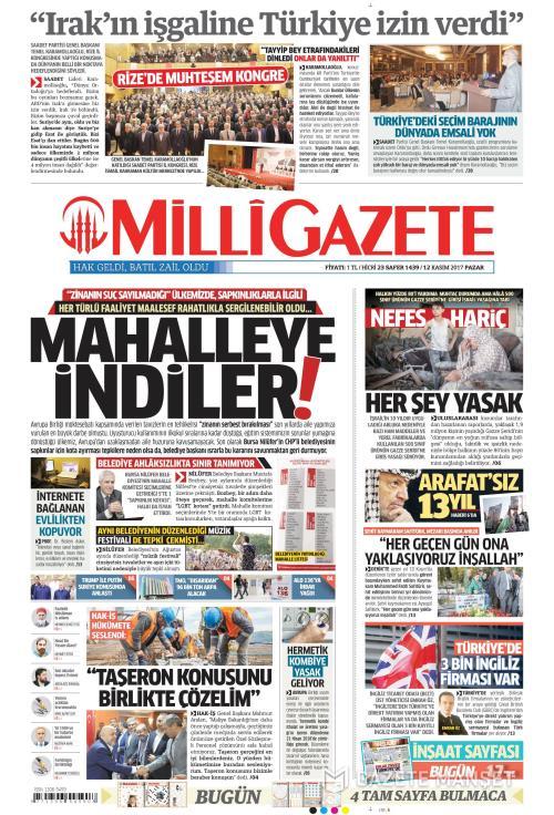 MİLLİ GAZETE - 12 Kasım 2017