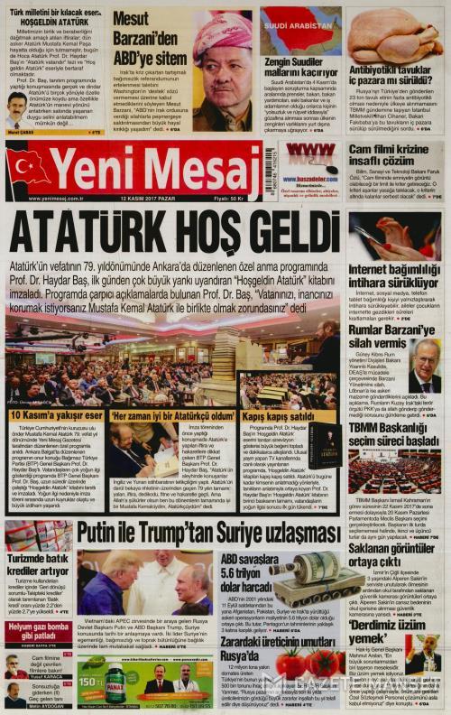 YENİ MESAJ - 12 Kasım 2017