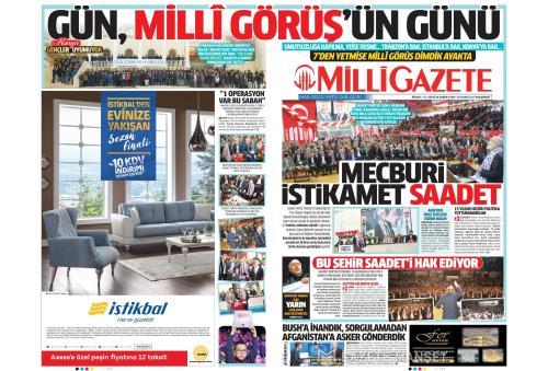 MİLLİ GAZETE - 13 Kasım 2017
