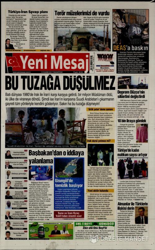 YENİ MESAJ - 13 Kasım 2017