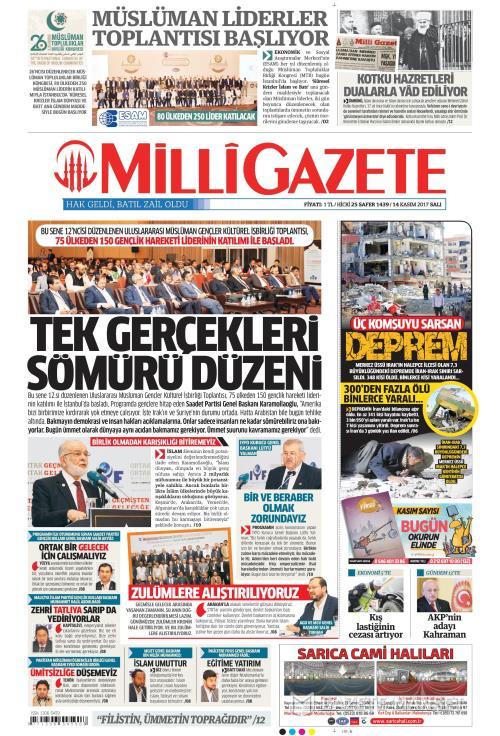 MİLLİ GAZETE - 14 Kasım 2017