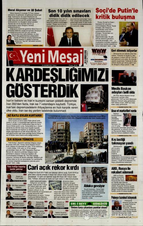 YENİ MESAJ - 14 Kasım 2017