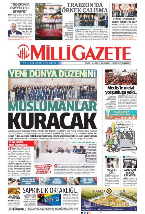 MİLLİ GAZETE - 16 Kasım 2017