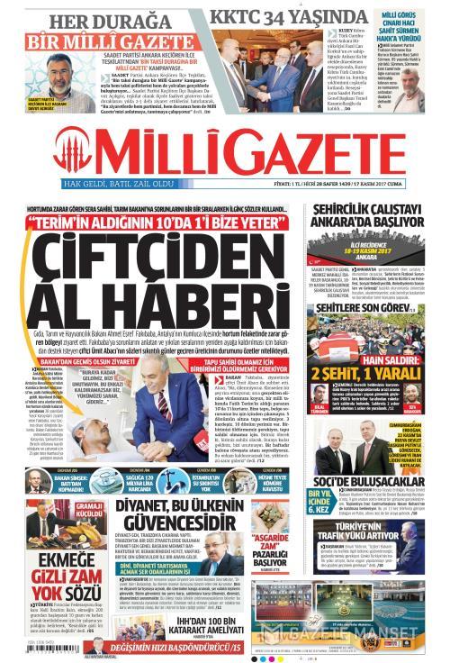 MİLLİ GAZETE - 17 Kasım 2017