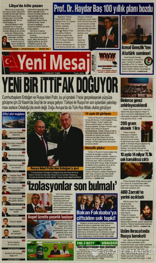 YENİ MESAJ - 17 Kasım 2017