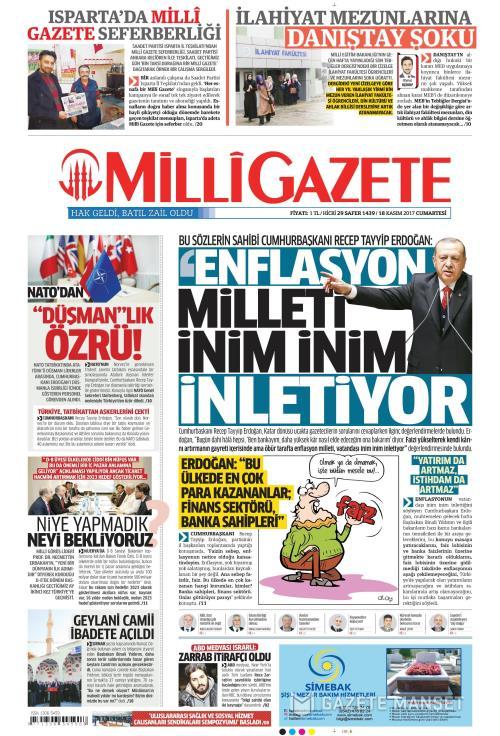 MİLLİ GAZETE - 18 Kasım 2017
