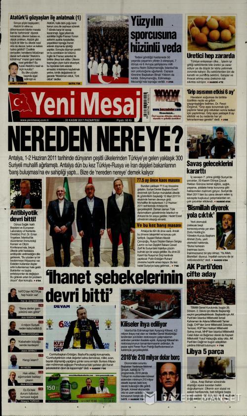YENİ MESAJ - 20 Kasım 2017