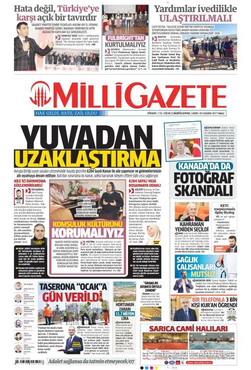 MİLLİ GAZETE - 21 Kasım 2017