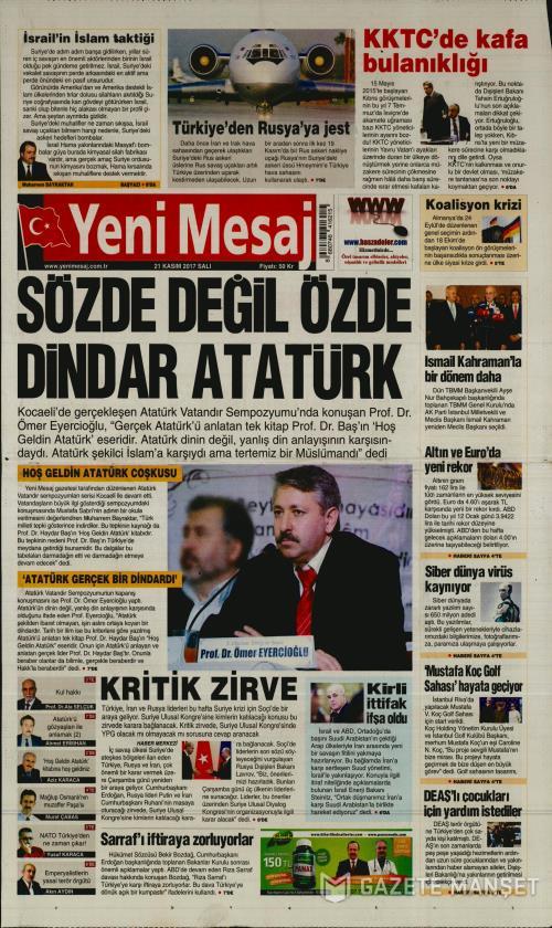 YENİ MESAJ - 21 Kasım 2017