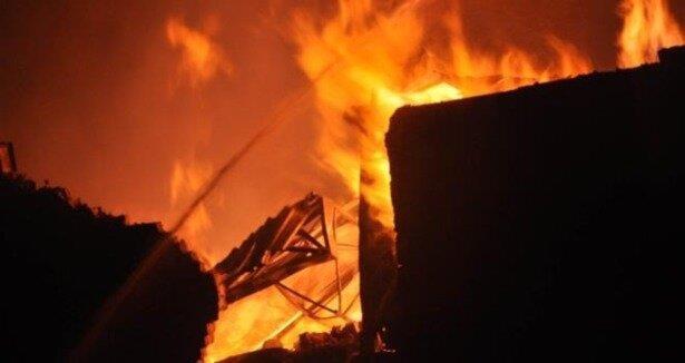 Gaziantep te yangın: 1 ölü