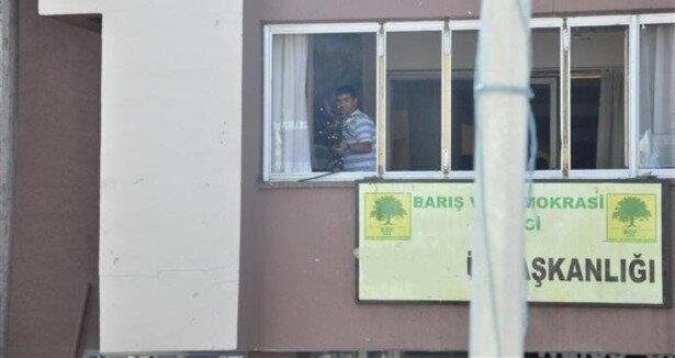 Bodrum da BDP binasına saldırı