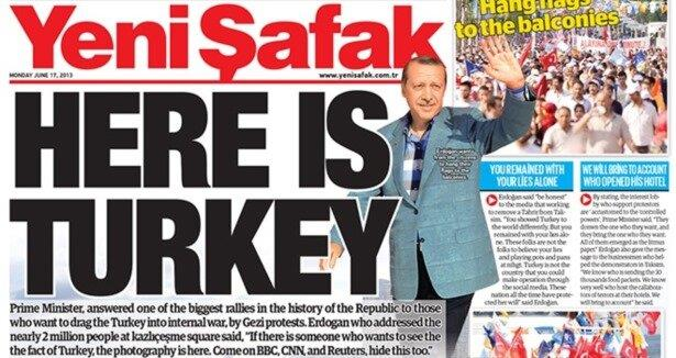 Yeni Şafak s front page