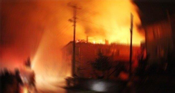 Gaziantep te büyük yangın