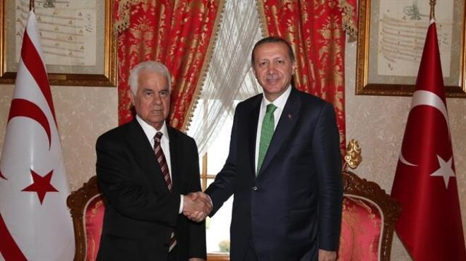 Cumhurbaşkanı Erdoğan Derviş Eroğlu ile görüştü