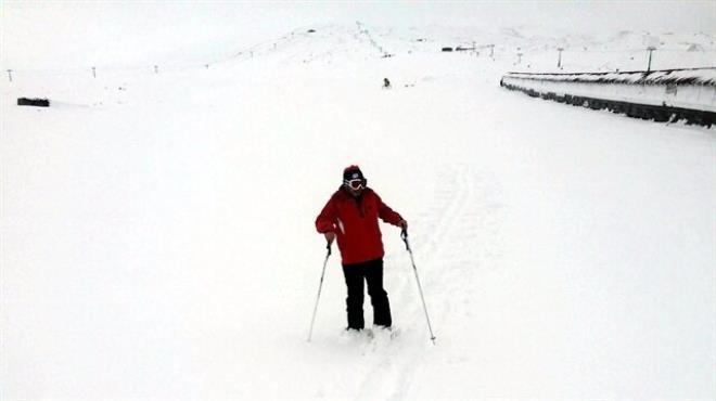 İlk kayak Erciyes te