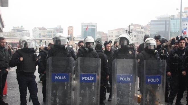 Taksim de CHP lilere müdahale