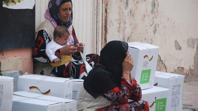 Almanya dan Türkiye deki mültecilere yardım
