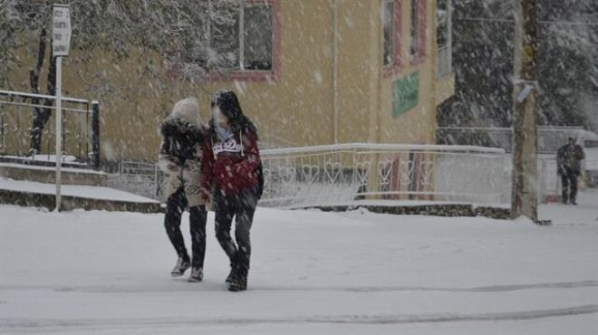 Konya da okullara kar tatili