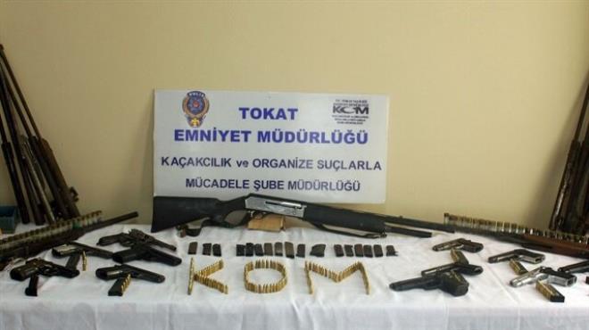 Tokat ta silah operasyonu: 2 gözaltı