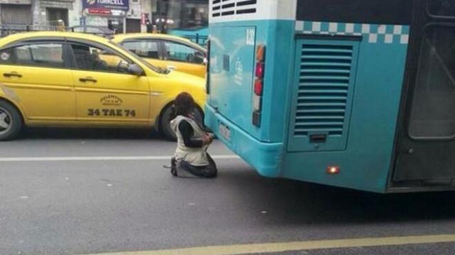 İstanbul da utandıran görüntü