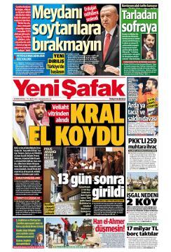 YENİ ŞAFAK - 16 Ekim 2018