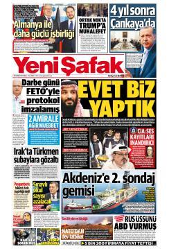YENİ ŞAFAK - 26 Ekim 2018